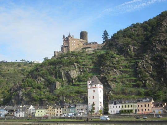 Katz Castle on Rhine near Koblenz.
