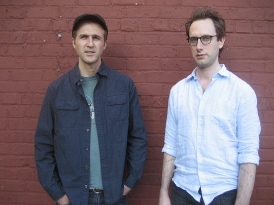 Federico Ughi, left, and Adam Caine are the jazz duo The Moon, playing at the Spot Tavern Saturday.