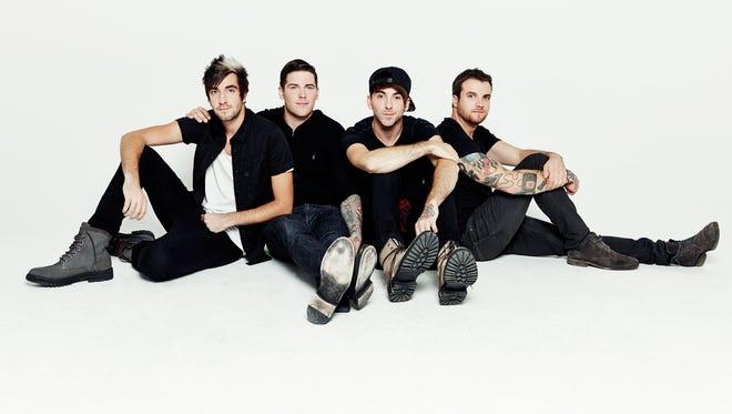 All Time Low consists of Jack Barakat, left; Zack Merrick; Alex Gaskarth; and Rian Dawson.