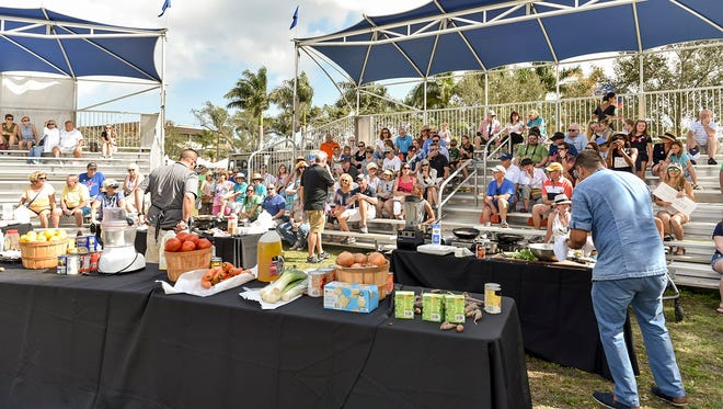 The CHOPPED! competition drew a crowd at ArtsFest.