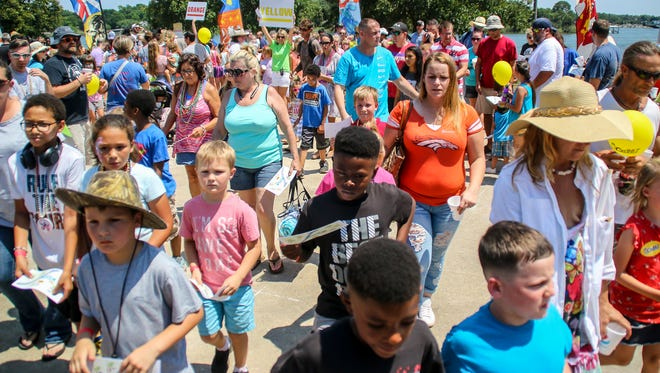 Hundreds of families take part various activies during a past Fiesta Children's Treasure Hunt at Bayview Park. This year's event will take place at 11 a.m. Saturday at Bayview Park.