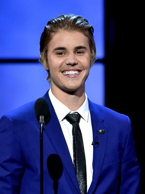 Justin Bieber appears onstage at his Comedy Central roast in March.
