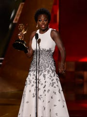 Viola Davis accepts outstanding lead actress in drama
