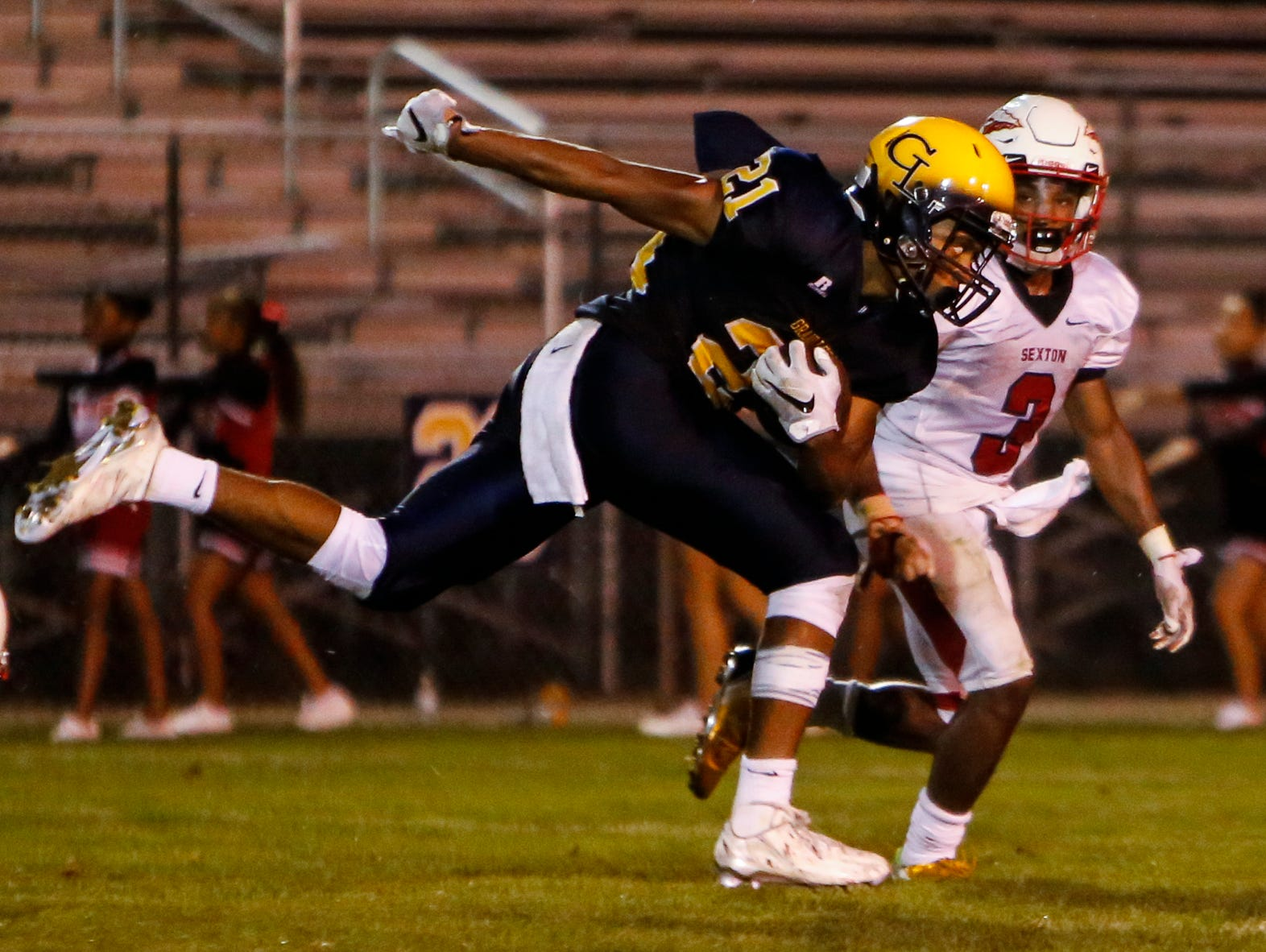 Antonio Rush and Grand Ledge can clinch the outright CAAC Blue title with a win over East Lansing next week.