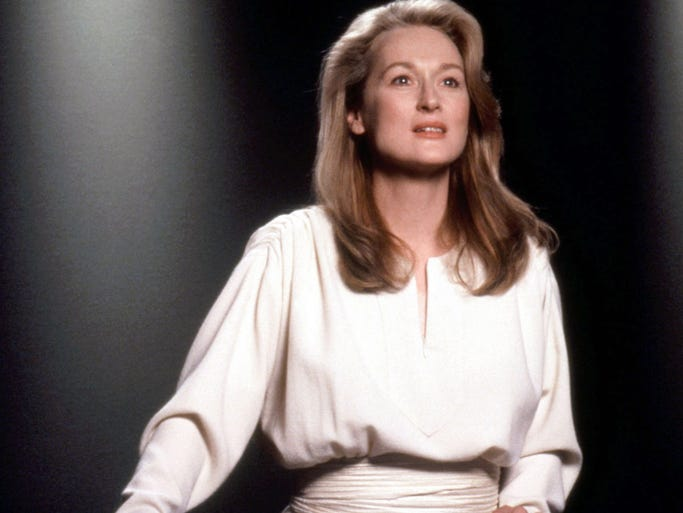 "Meryl Streep from the 1991 film ""Defending Your Life."""