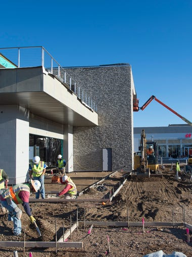 Construction continues on the renovations to Foothills Mall in Fort Collins Wednesday, November 11, 2015.
