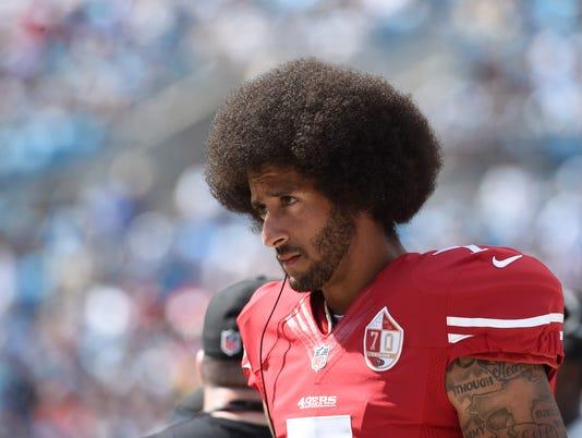 USP NFL: SAN FRANCISCO 49ERS AT CAROLINA PANTHERS S FBN USA NC