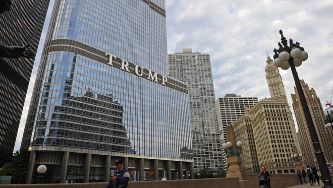 Trump Tower in Chicago, Illinois.