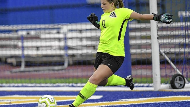 Senior goalie Jordan Conley is among the key returning players for the New Albany girls soccer team, which is looking to make a postseason run after losing in a Division I district final last season.