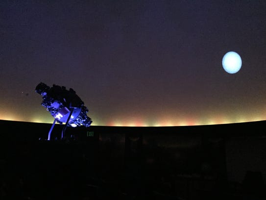 The planetarium inside Carmel High School.