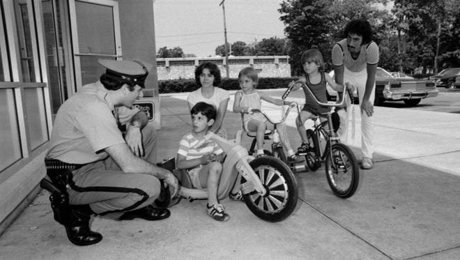 Bike safety day at the Vineland YMCA in 1978.