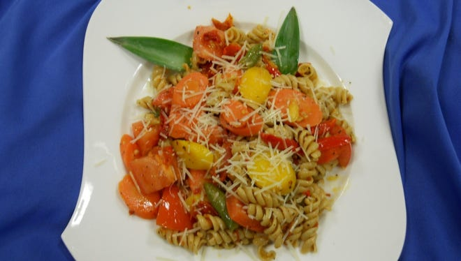 "Wauwatosa Schools' executive chef Paul Gatta created a signature pasta gatta dish, shown here, for last year's international flavors week. The chef will introduce Italian and other international dishes for the new ""World of Flavors"" program this year."