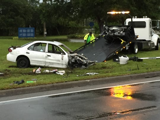 Car involved in crash Wednesday.