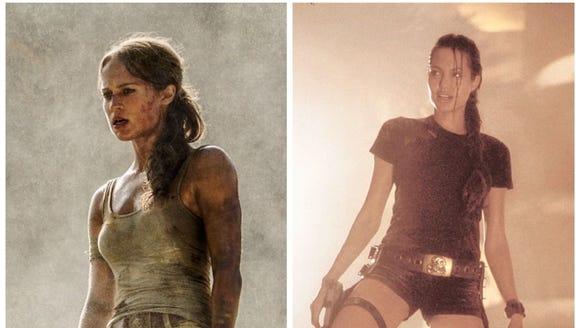 "Alicia Vikander (left) in 2018's ""Tomb Raider"" next"