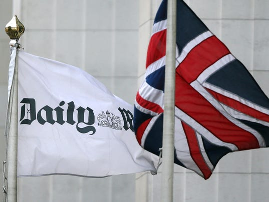 Union Jack flag & Daily Mail