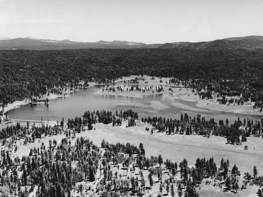 Hawley Lake, Whiteriver on July 7, 1959.