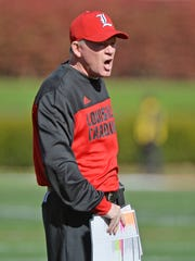 Louisville Cardinals head coach Bobby Petrino.