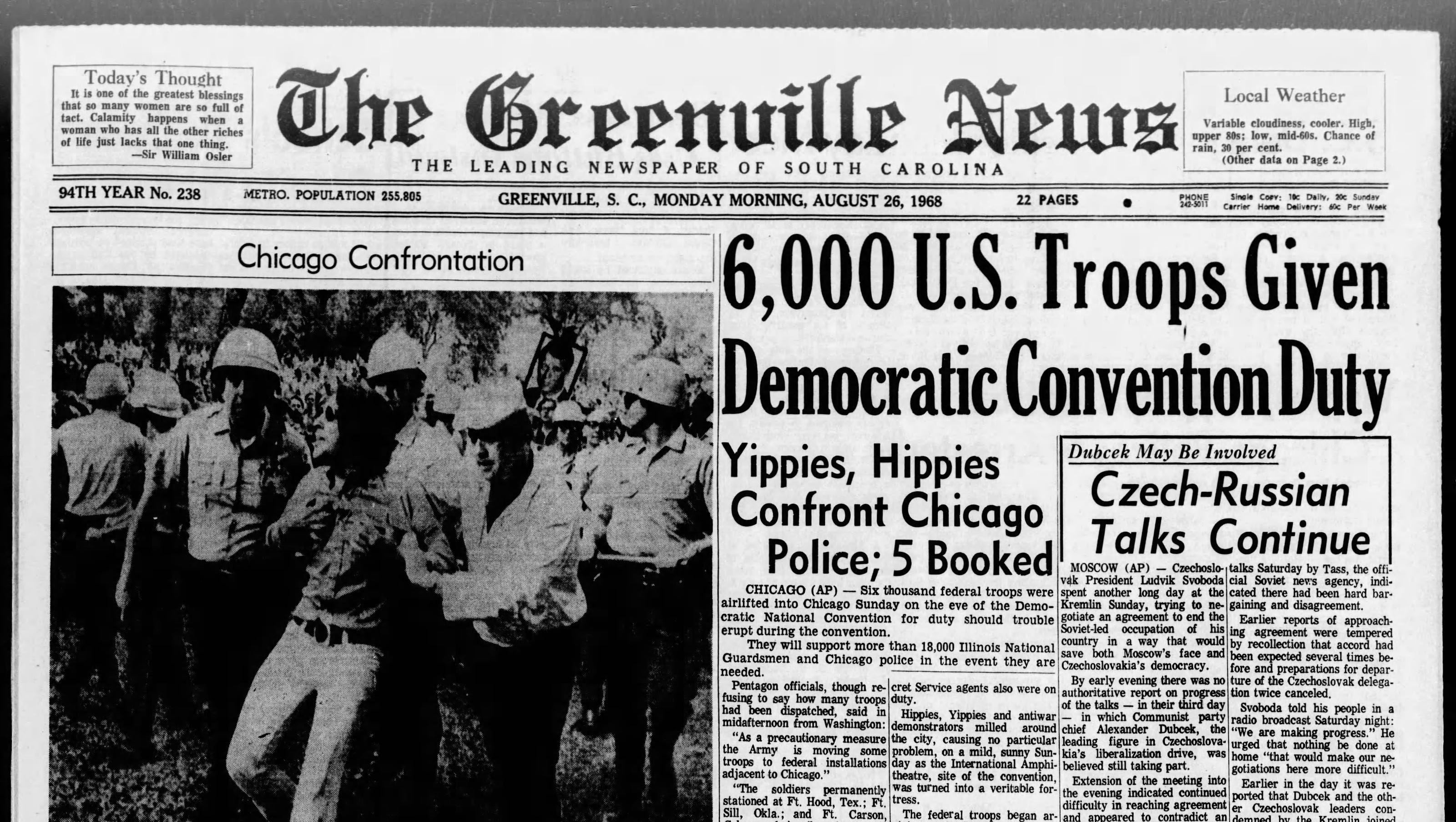 Image result for clashes mar the 1968 democratic convention in chicago