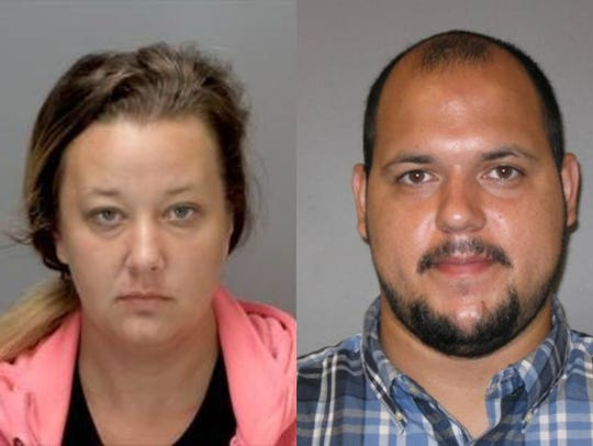 Sarah Conde (left) and Yenier Conde are charged with
