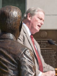 President John Thrasher spoke at the statue dedication