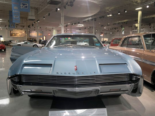A 1966 Oldsmobile Toronado is in the collection of the GM Heritage Center in Sterling Heights, photographed Tuesday, March 20, 2018.