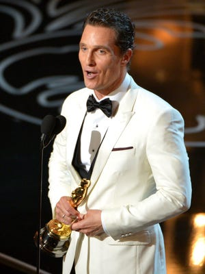 Matthew McConaughey accepts the award for best actor in a leading role for 'Dallas Buyers Club.'
