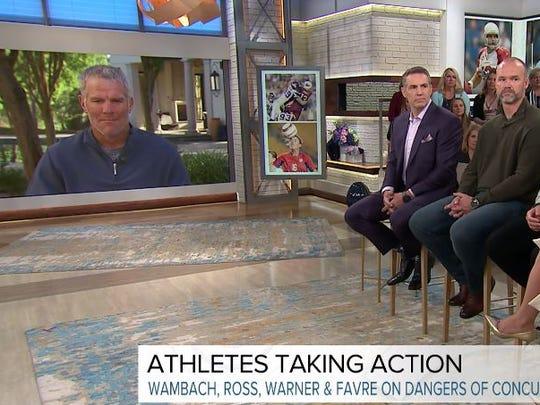 Former professional athletes Brett Favre, Kurt Warner,