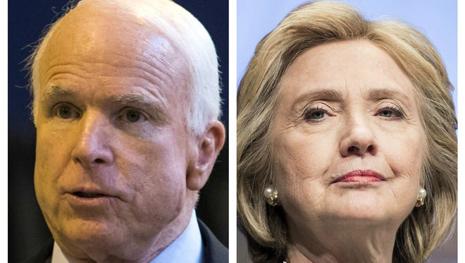 Sen. John McCain and a woman he doesn't like or admire, except when he does.