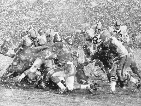The 1970 Peach Bowl with Arizona State University and North Carolina.