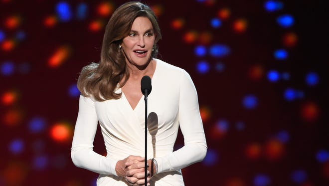 Caitlyn Jenner accepts the Arthur Ashe award for courage at the ESPY Awards at the Microsoft Theater, in Los Angeles on July 15, 2015. Jenner filed a petition on Tuesday, Sept. 15, 2015, to legally change her name to Caitlyn Marie Jenner and to change her gender to female, according to files released by Los Angeles court officials on Wednesday, Sept. 16, 2015.