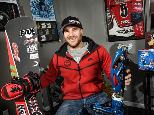 In this December photo Mike Schultz, was preparting to compete in the 2018 Winter Paralympics in South Korea.