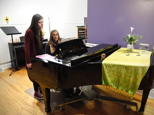 Ashley Gonzalez works with singing instructor Marcie Givens Thursday, Jan. 4, at the Wirth Center for the Performing Arts. Gonzalez has been selected to sing at Carnegie Hall in New York.