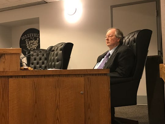 Belleville Township Councilman Kevin Kennedy seen in this Feb. 28, 2017 file photo. The councilman has expressed concern about a fast-food establishment's video geared toward the pot-smoking crowd.