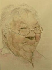 """""""Margaret,"""" pencil portrait by Cliff Darken, part of"""