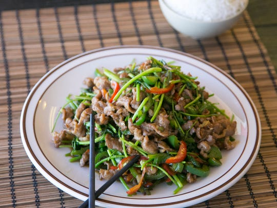 Fried Lamb with Cilantro at House of Egg Roll in Chandler on July 22, 2016.