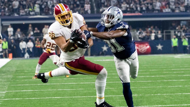Redskins tight end Jordan Reed caught 66 passes and scored six TDs in 12 games last season.
