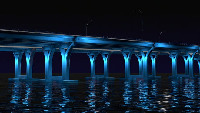 The winning design for the replacement Pensacola Bay Bridge to be built by Skanska USA Civil Southeast was released Wednesday.