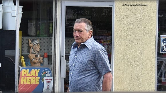 "Robert De Niro during a filming of ""The Irishman"" Sept. 21, 2017"