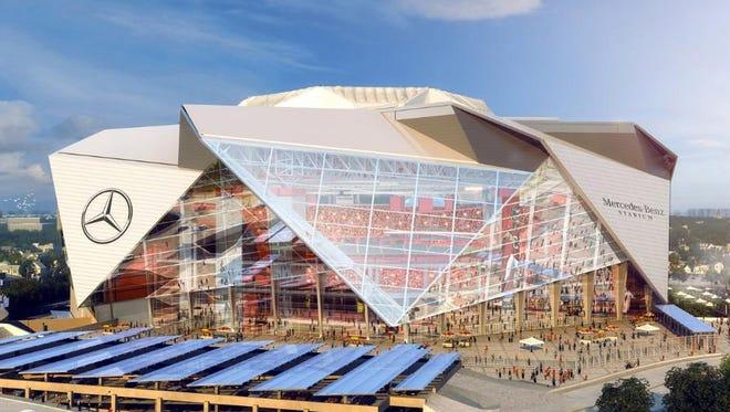 The new stadium in Atlanta will be called Mercedes-Benz Stadium.
