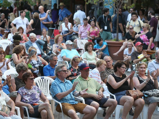 Another large crowd was treated to a full evening of