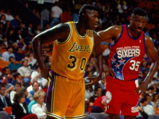 Toms River native Alex Blackwell shown playing for the Los Angeles Lakers during the 1992-93 season.