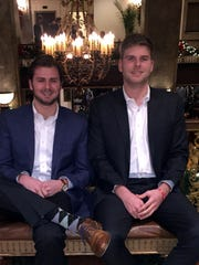 Dylan Cunningham, left, and hsi brother, Daniel Cunningham