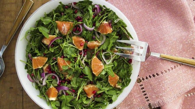 Citrus, cranberry and arugula salad