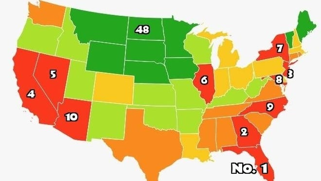 Image showing stressed out states in America