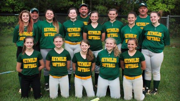 The Reynolds 14U softball team.