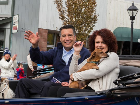 Governor Sandoval and his wife Kathleen during the