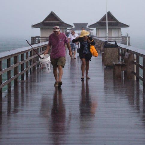 Tropical storm remnants soaking Southwest Florida