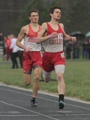 Shelby's Sam Logan overtakes teammate Blake Lucius