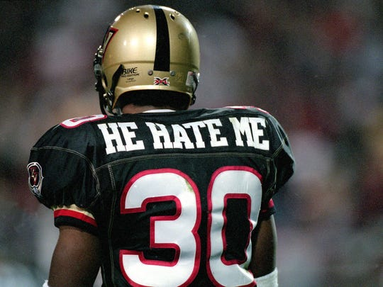"Rod ""He Hate Me"" Smart during his time with the XFL's Las Vegas Outlaws."