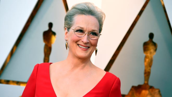 n this March 4, 2018 file photo, Meryl Streep arrives at the Oscars in Los Angeles. Streep won't be able to attend the May 6, induction ceremony for the New Jersey Hall of Fame.